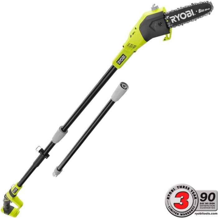Ryobi One+ 8 in. 18-Volt 9.5 ft Cordless Electric Pole Saw